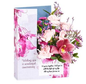 anniversary flowercards