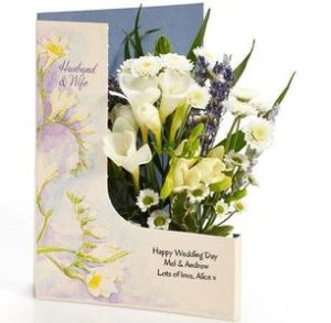 wedding day flowercard